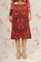 Textured knit jacquard skirt  image