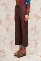 Plaid cropped pants  image