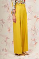 Acidic yellow wide leg pants  image