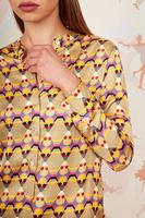 Abstract geometric print shirt image