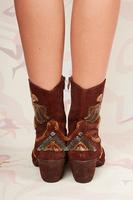 Velvet embellished texan ankle boots  image