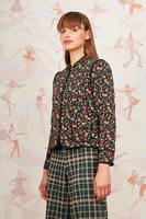 Floral print quilted jacket  image