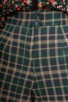 Checked jersey palazzo pants  image