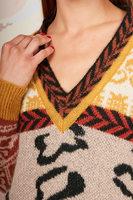 Multi pattern oversized sweater image