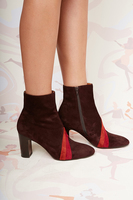 Aubergine Suede Ankle Boots  image