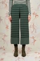Striped wide leg knit pants  image