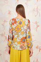 Floral print sheer top  image