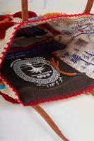 Textured geometric pattern shoulder bag image