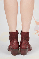 Burgundy Leather and Suede texan ankle boots  image