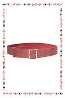 Burnt umber leather belt image