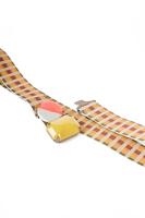 Checked elasticated belt with embellished buckle  image