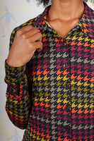 Houndstooth printed jersey shirt  image
