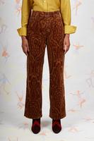 Paisley print corduroy pants image