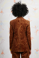 Paisley print corduroy blazer  image