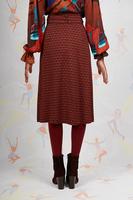 Abstract print midi skirt  image