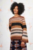 Striped oversized sweater  image