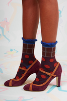 Suede mary janes image