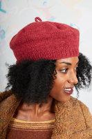 Berry wool beret image