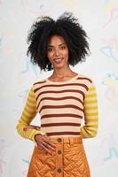Mixed stripe sweater image