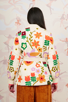 Ivory Embroidered Wrap Jacket  image