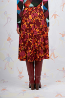 Floral print flared skirt  image