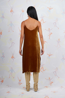 Velvet slip dress  image