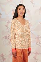 Animal print cashmere sweater  image