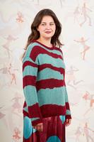 Aqua zebra sweater image