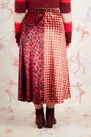 Geometric floral and animalier printed velvet skirt  image