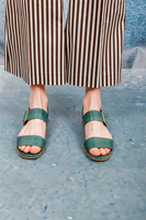 Green water snake flat sandals image