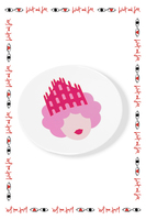 Olimpia Zagnoli x Wait and See special edition Queen of Milano plate  image