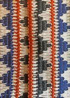 Blue Geometric tie belt  image