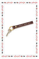 Wait and See Leather Keyring  image