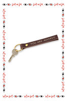 You Are Adored Leather Keyring  image