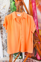 Peach textured shirt with short sleeves image