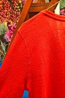 V Neck 3/4 Length Sleeve Linen t-shirt  image