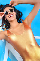 Metallic Orange Swimsuit image