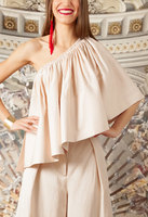 One shouldered draped top  image