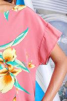 Tropical print silk top  image