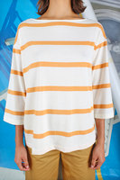 Ochre striped t-shirt  image