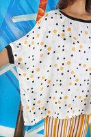 Oversized polka dot silk top  image