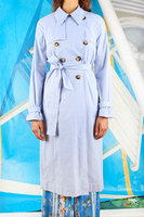 Striped Trench Coat image