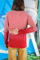 Red and white striped degrade long sleeve t-shirt  image