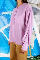 Batwing sleeve Silk blouse  image