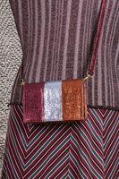 Textured multicoloured crossbody bag  image