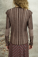 Chocolate striped lurex sweater   image
