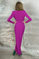 Long jersey wrap dress  image