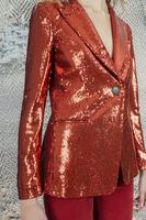 Rust sequin blazer image