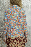Floral print collared top  image