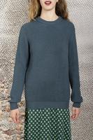 petrol green boyfriend sweater  image